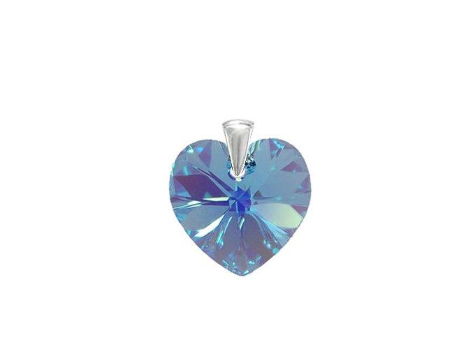 Prívesok srdce Made With Swarovksi Crystals 14mm