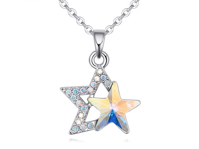 Prívesok s retiazkou v tvare hviezdičky Crystal