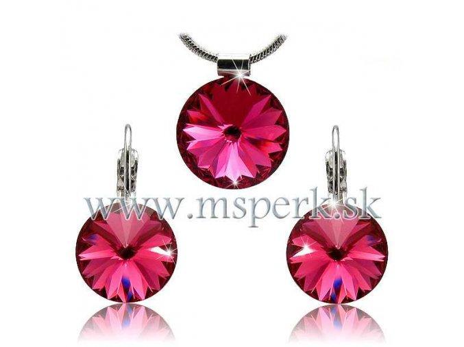 Set SWI crystal 12mm ružová farba