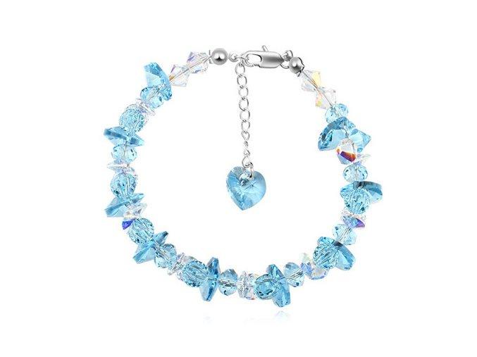 Exkluzívny náramok Made With Swarovski Crystals Aqua Blue