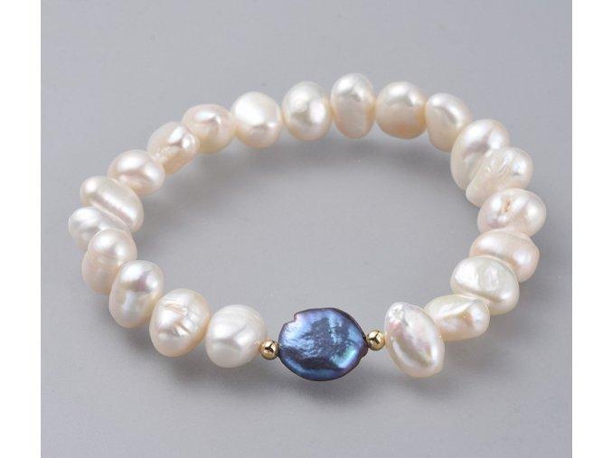 Dámsky náramok z riečnych perál