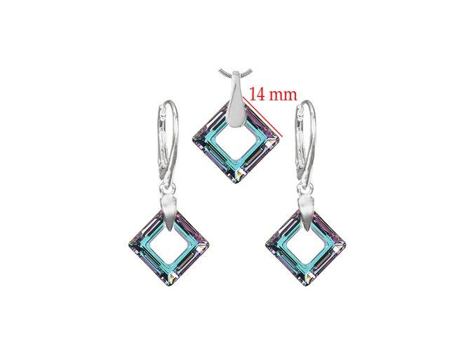 Set SWI crystal v tvare štvorca modro fialová farba