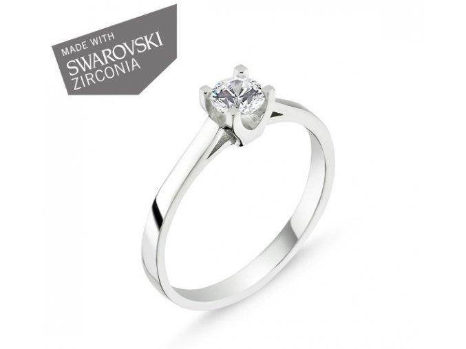 Strieborný prsteň so Swarovski zirkónom  Striebro 925/1000: 2 g + RH