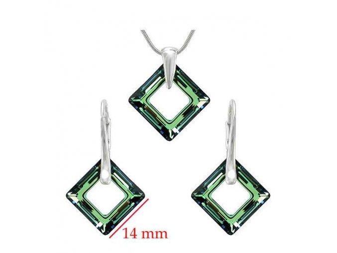 Set SWI crystal v tvare štvorca tmavozelený