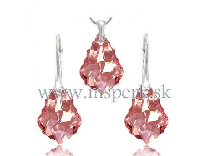 Set SWI crystal 22 mm svetlo ružový