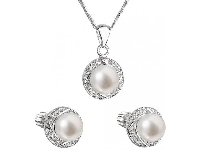 Súprava šperkov z bielych riečnych perál