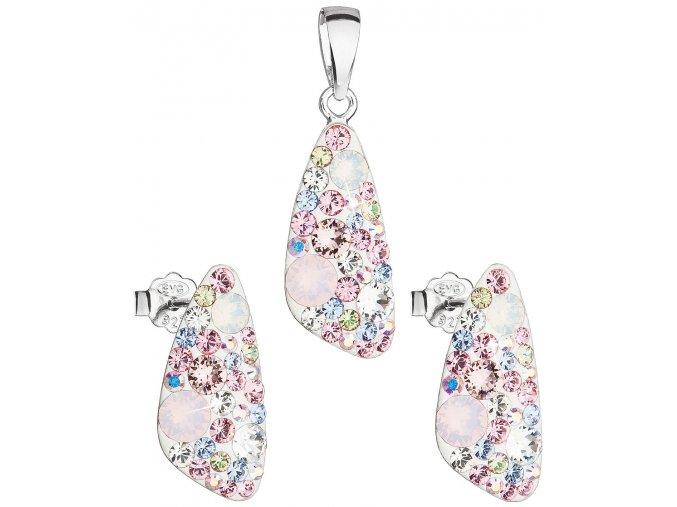 Dámska súprava šperkov so Swarovski Crystals - Magic Rose svetlo ružová farba