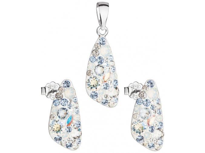 Dámska súprava šperkov so Swarovski Crystals - Light Sapphire