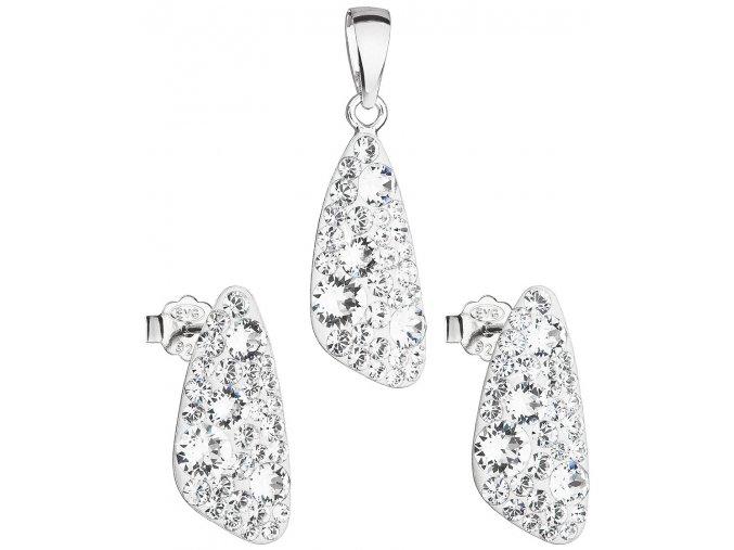 Dámska súprava šperkov so Swarovski Crystals - Crystal číre