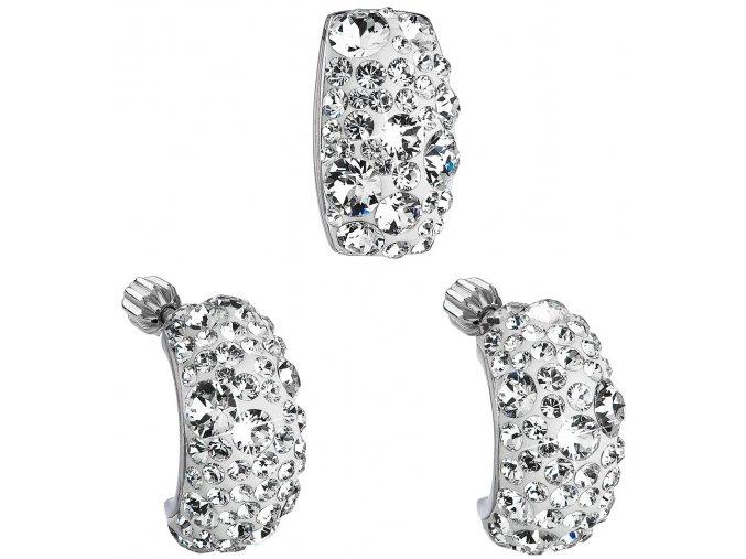 Súprava šperkov so Swarovski Crystals náušnice a prívesok - Elegant so zirkónmi
