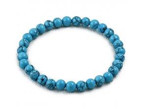 Náramok z modrých tyrkysových guľôčiek
