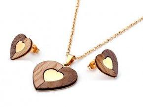 Dámska súprava v tvare srdca Wood&Steel (2)