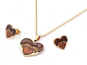 Dámska súprava v tvare srdca Wood&Steel