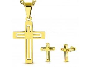 Dámska súprava krížik zlatej farby