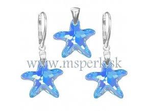 Exkluzívny set SWI crystal v tvare hviezdy modrá farba