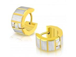 Okrúhle náušnice strieborno zlatá farba (6)