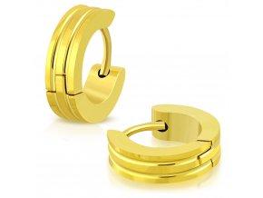 Okrúhle náušnice zlatá farba (4)