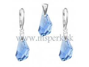 Exkluzívny set SWI crystal svetlo modrá farba
