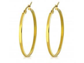 Náušnice kruhy 38 mm zlatá farba
