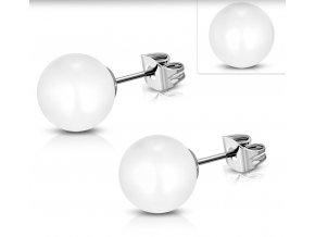 Náušnice perly biele 8 mm