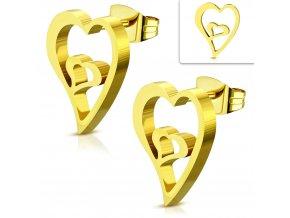 Náušnice srdce v srdci