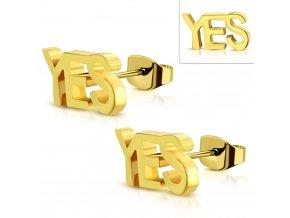 JES534 Náušnice s nápisom YES
