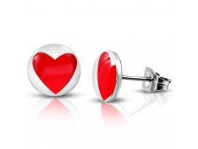 LEB198 Okrúhle náušnice so srdcom