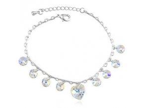 Exkluzívny náramok SWI crystal Hearts 2013