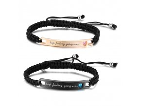Wholesale Stainless Steel Inspirational Couple Bracelet