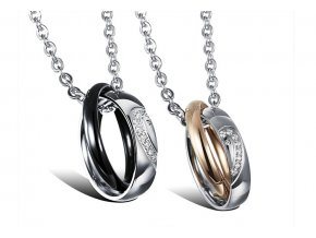 Prívesky pre dvoch prepletené prstene