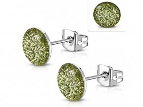 Zelené napichovacie náušnice 8 mm