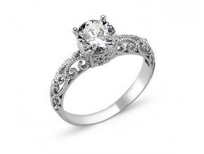 Strieborný dámsky prsteň  Ag 925/1000 Rh: 2 g