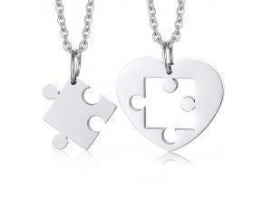 Prívesok pre dvoch srdiečko puzzle