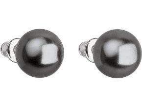 Náušnice so sivou perlou