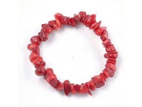 Červený náramok korál