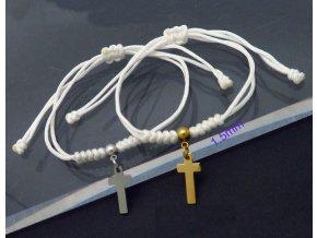 Náramky pre dvoch s krížikom
