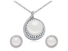 Náušnice a prívesok s perlou SW 2531
