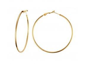 Náušnice kruhy zlatej farby 60 mm