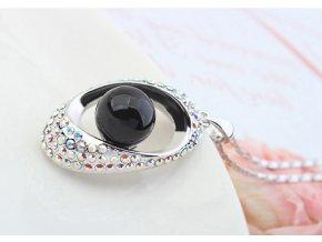 Náhrdelník s perličkou a retiazkou