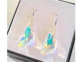 Swarovski Crystals strieborné náušnice Wing CAB