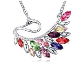 Exkluzívny náhrdelník s kryštálmi 2587