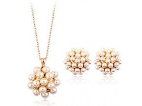 Náušnice a prívesok s perlou SW 2643