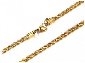 Retiazka z chirurgickej ocele Elix 50 cm - zlatá farba