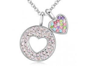 Exkluzívny náhrdelník Spojené srdcia
