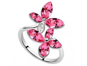 Prsteň SWI crystal Dvojitý kvet