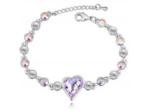 Exkluzívny náramok SWI crystal Srdce s kryštálmi