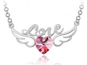 """Náhrdelník """"Love"""" Srdce s krídlami"""
