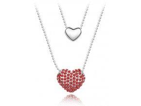 Náhrdelník Zdvojené srdce Lásky