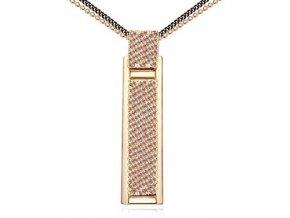 Štýlový náhrdelník s dvoma retiazkami