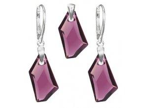 Exkluzívny set SWI crystal fialová farba